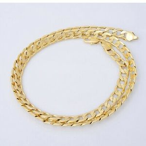 """24"""" Gold Plated 5mm Cuban Necklace"""